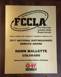 FCCLA Award Plaque