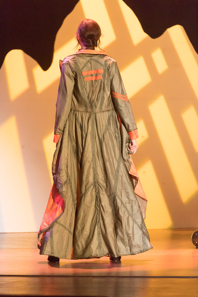 "Colorado State University's Design and Merchandising department presents ""Ascent,"" showcasing the 2017 junior design and draping concepts constructed from recycled war parachutes donated by Aspen Pointe Mental Health Services. March 31, 2017"