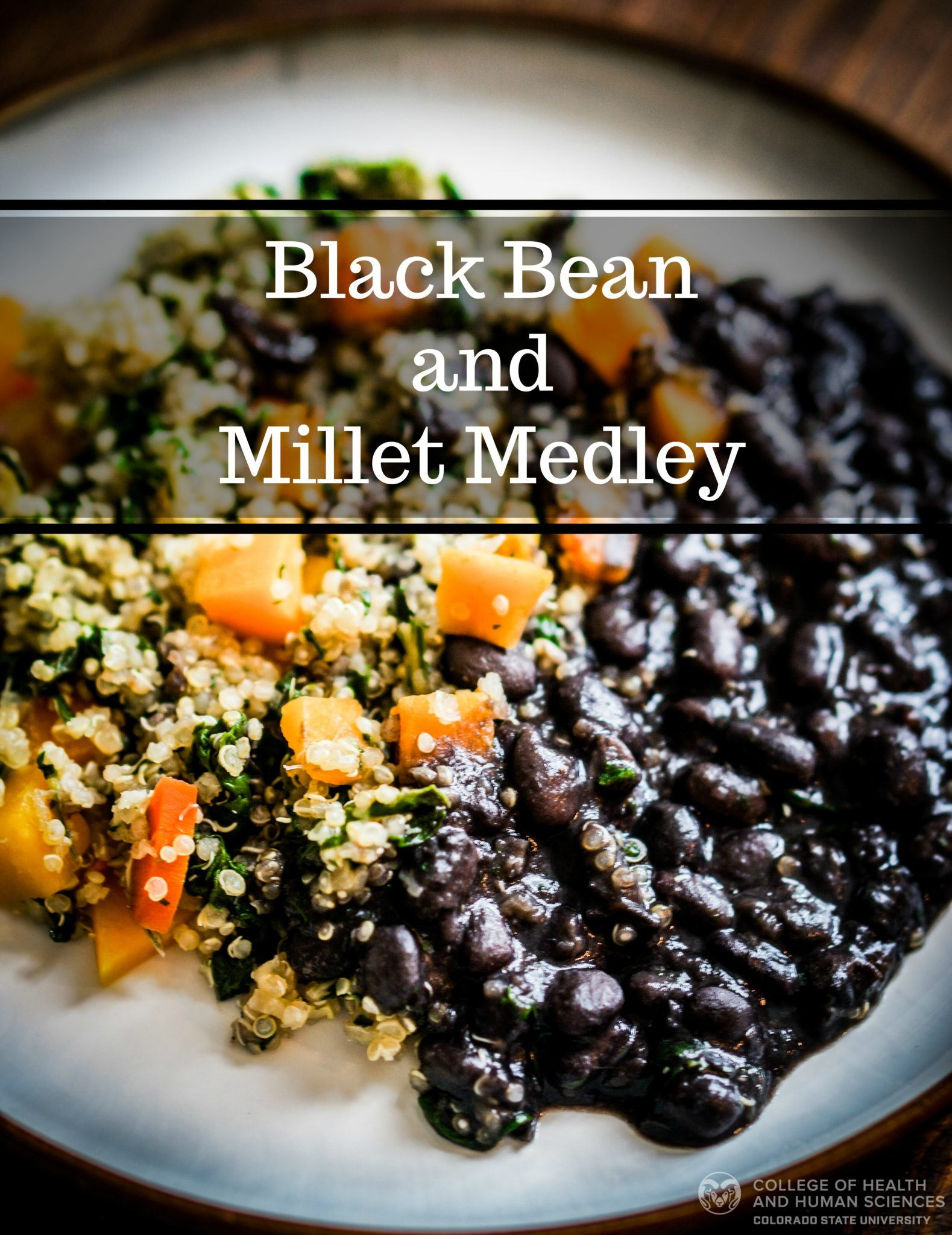 Black bean and millet medley graphic