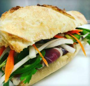 Aspen Grille's Bahn Mi sandwich