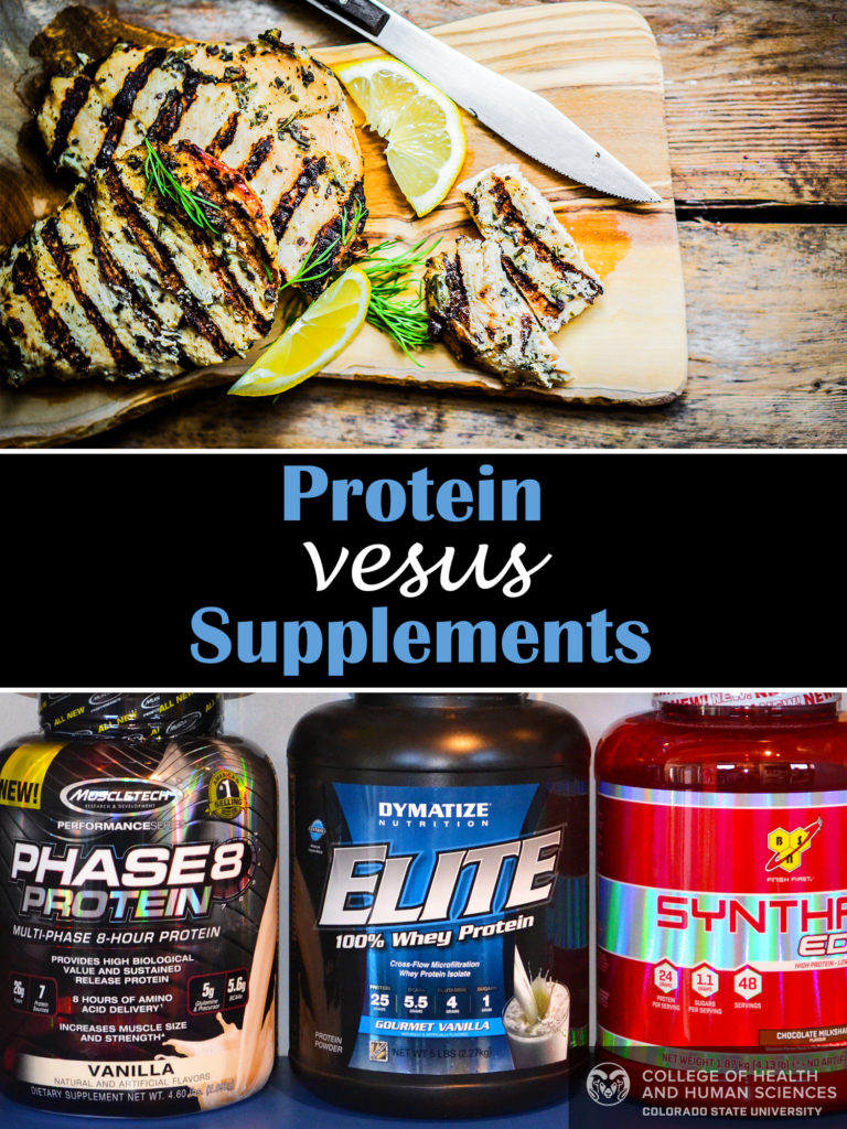 protein vs. supplements graphic