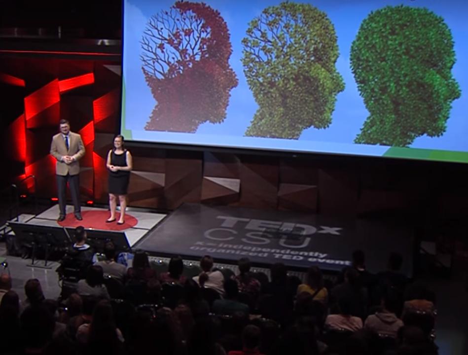 Speakers addressing TedTalk CSU