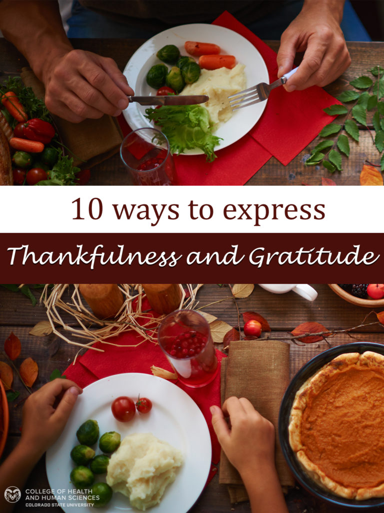 Thankfulness and Gratitude graphic