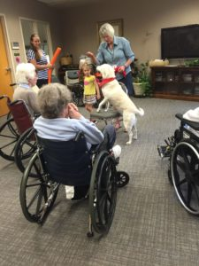 Dog with older adults