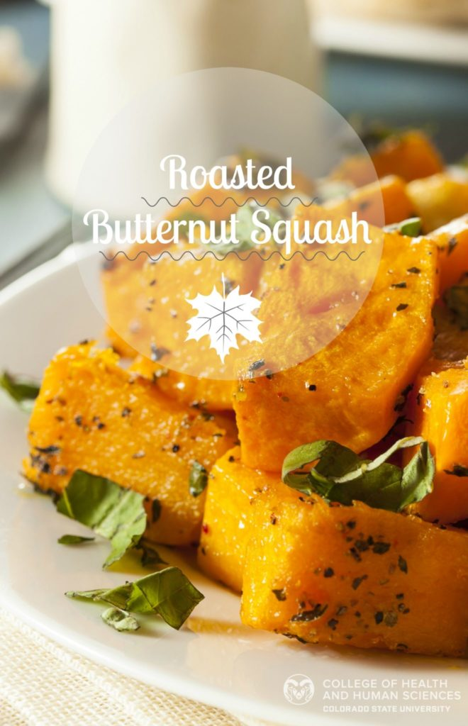 Roasted butternut squash graphic