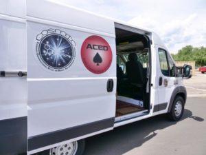 Dabbing van for dabbing study