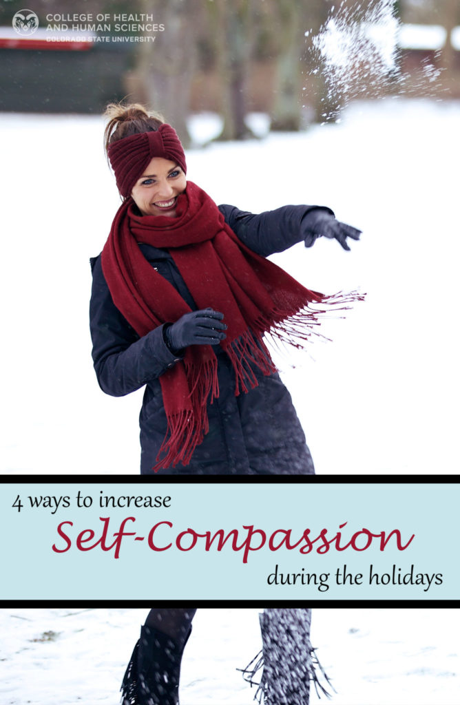 self-compassion during the holidays graphic