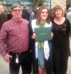 Erin Bender and parents