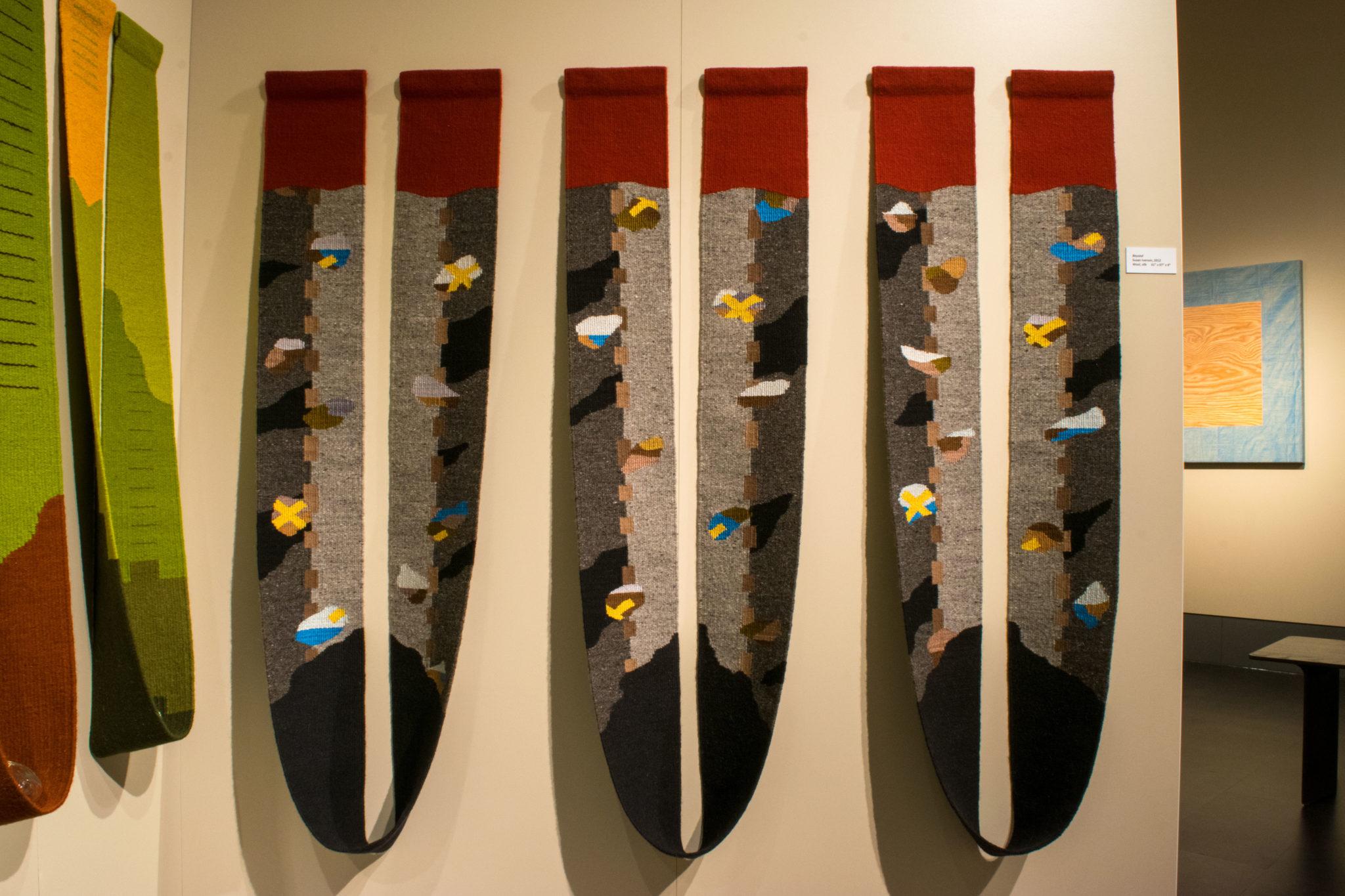 Hand-woven textile exhibit