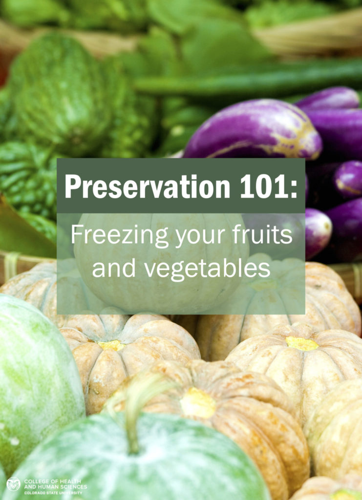 Freezing your fruits and vegetables graphic