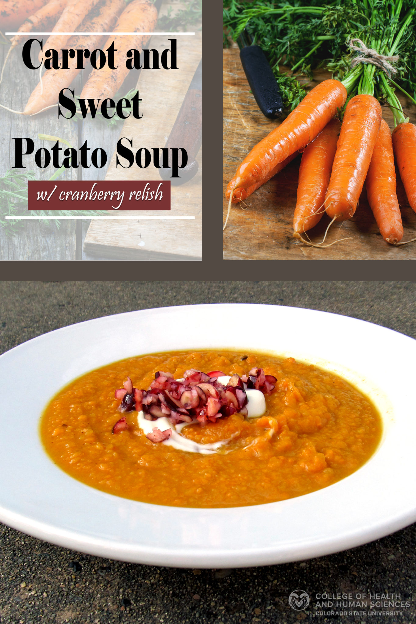 carrot and sweet potato soup graphic