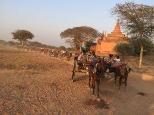 Horse drawn carriage Bagan, Myanmar