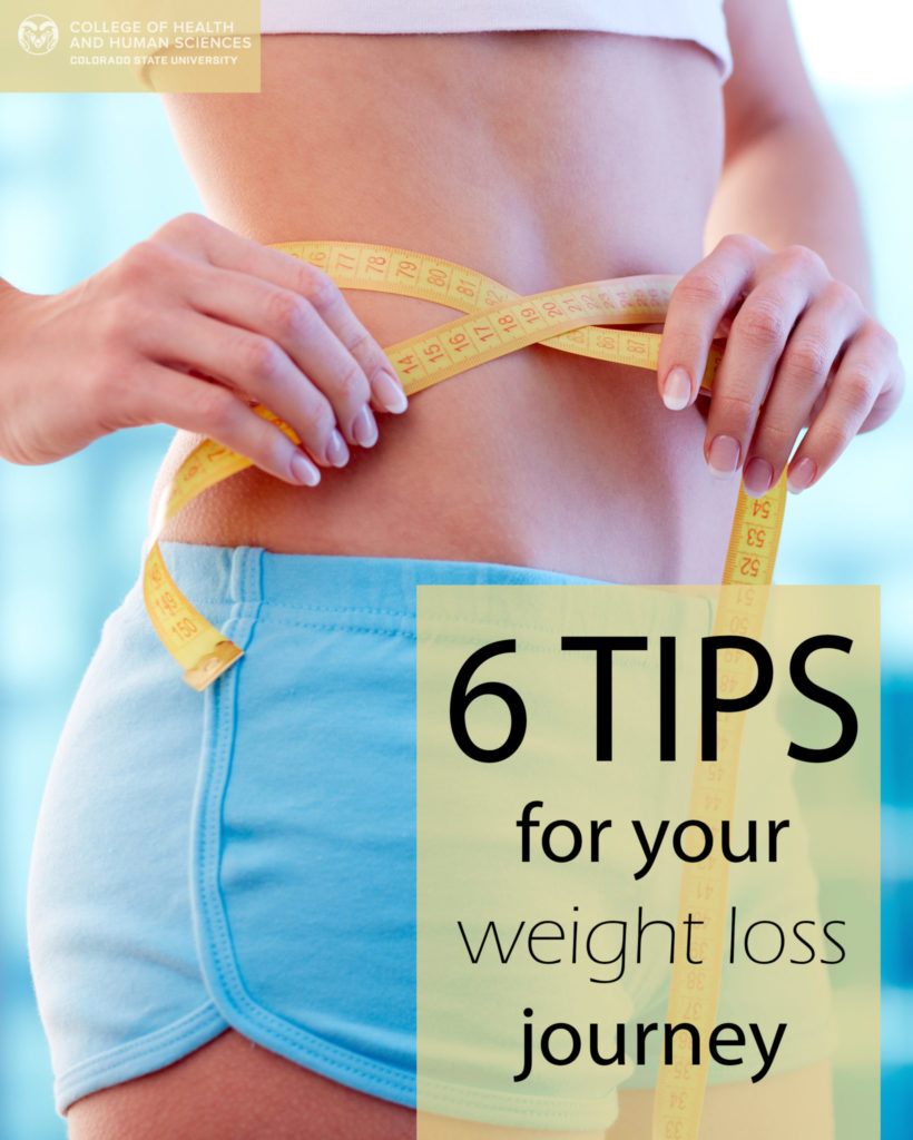 6 tips for your weight loss journey graphic