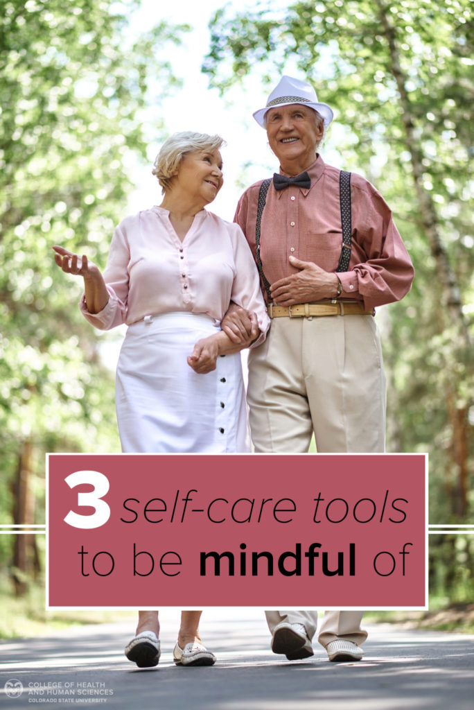 3 self-care tools graphic