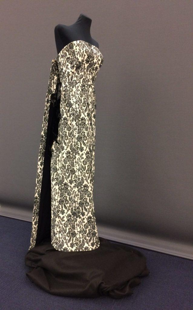 Julia Tobias black and white floral gown