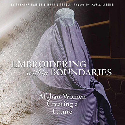 Book cover with Afghan woman