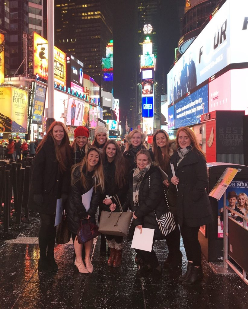 Students in New York City Time Square