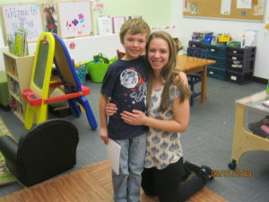 Erika Seeling and her son Charlie