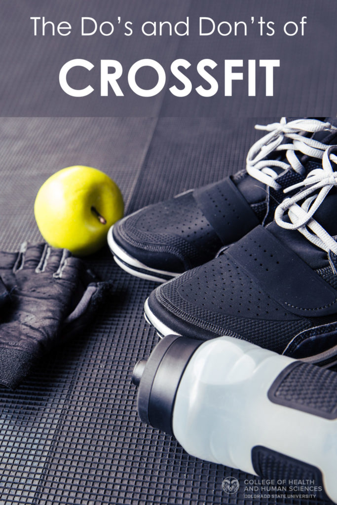 The do's and don'ts of crossfit graphic