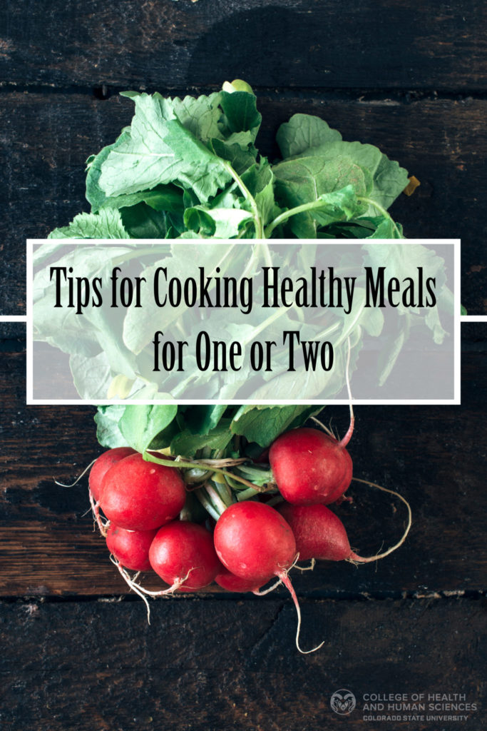 Healthy cooking for one or two graphic