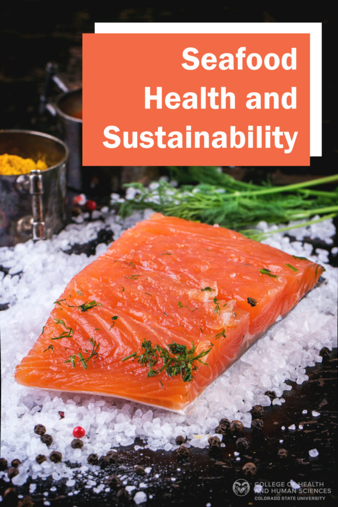 Seafood health and sustainability graphic