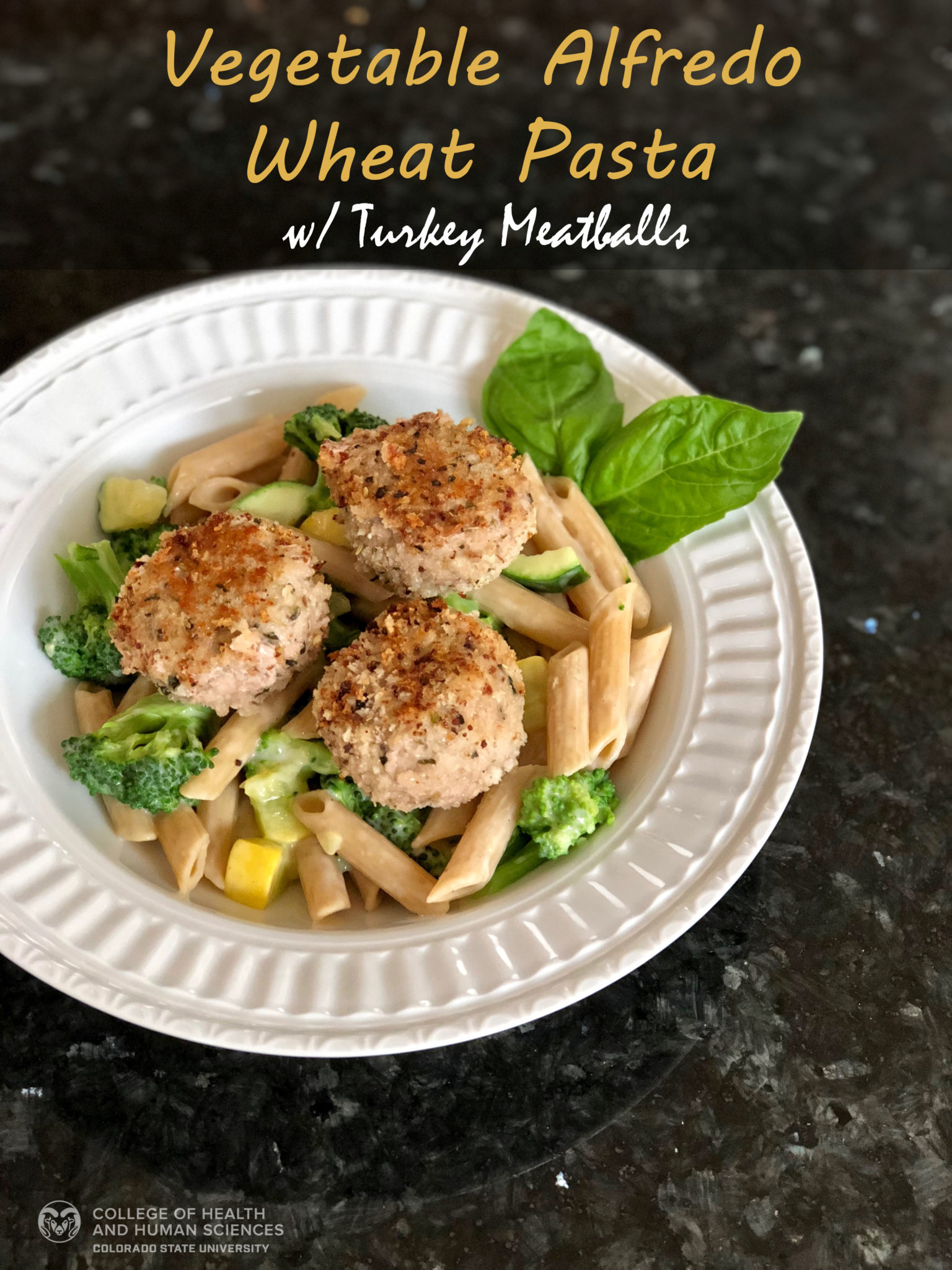 Vegetable Alfredo Wheat Pasta graphic