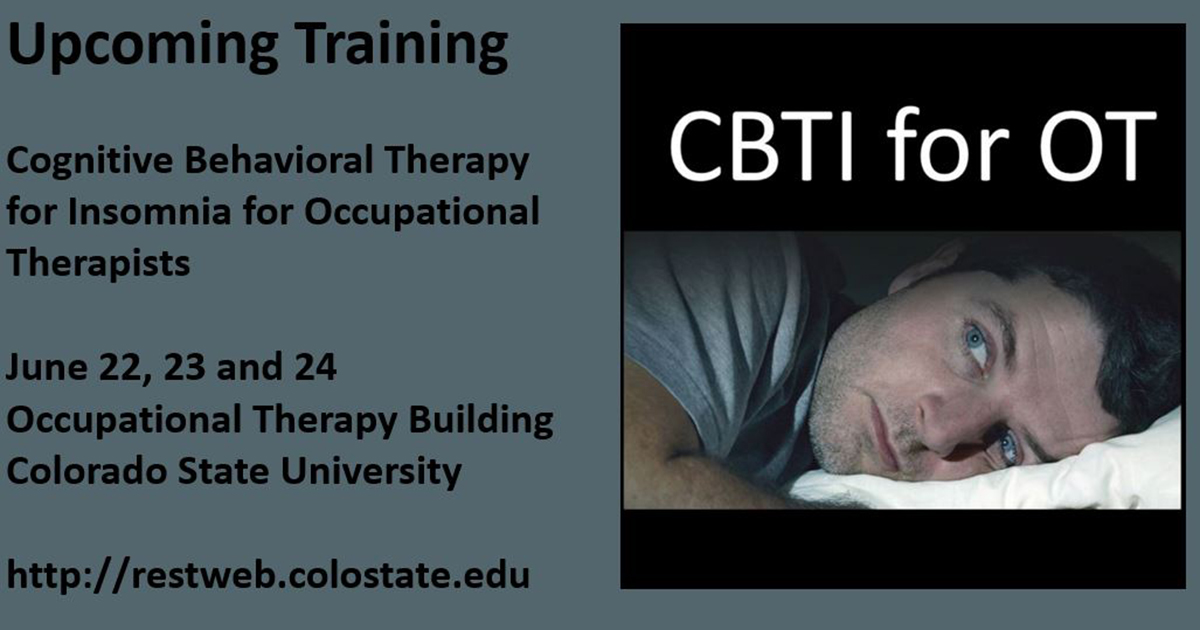Upcoming Training: Cognitive Behavioral Therapy for Insomnia for