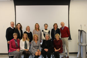 Carla Dore with the other members of the Executive Leadership Council for the College of Health and Human Sciences