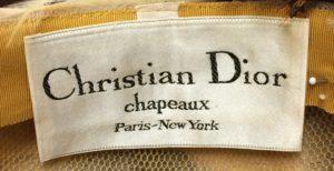 A Christian Dior label.