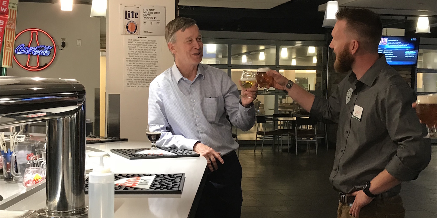 Gov. John Hickenlooper on tour with Jeff Callaway