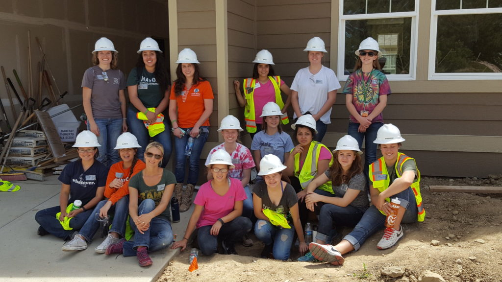 Jenna Richards with group of women in construction