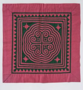 Red Hmong textile