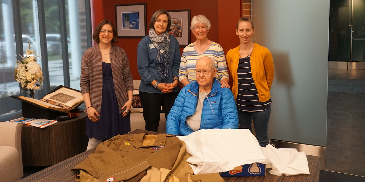 Jim and Peggy Ingram with Avenir Museum staff