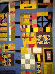 A colorful quilt project.
