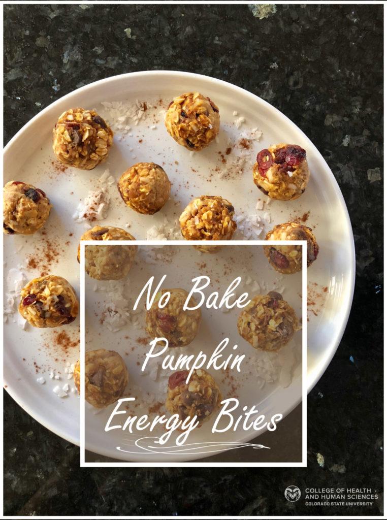 No bake pumpkin energy bites, perfect for autumn!