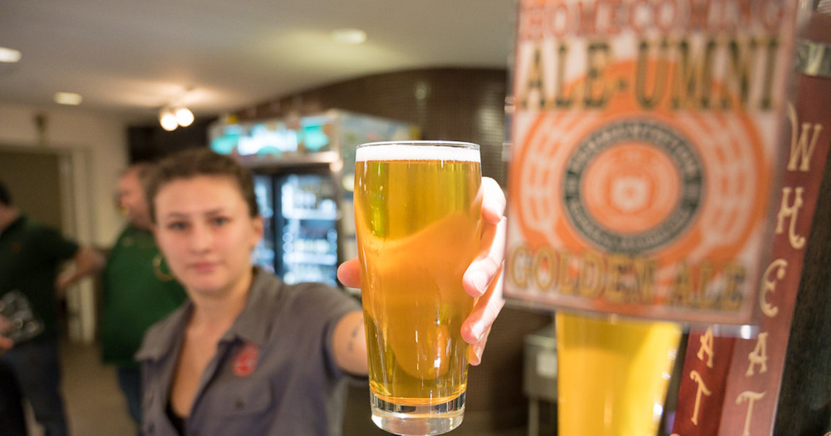 Ramskeller teaching brewery taps first beer in time for CSU Homecoming - College of Health and Human Sciences