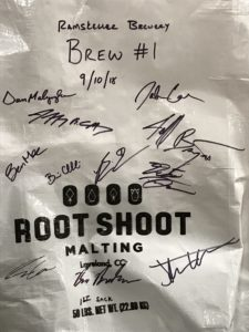 Signed bag of malt