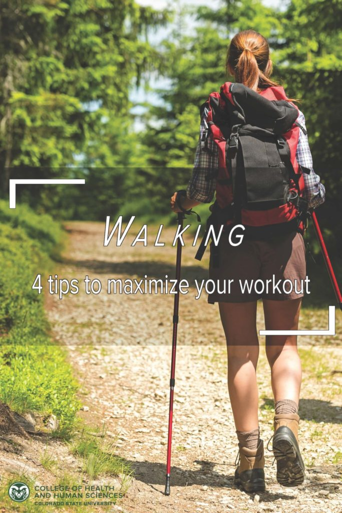 Person walking with a backpack - 4 tips to maximize your workout