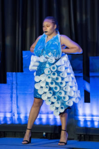 Dress made out of cups