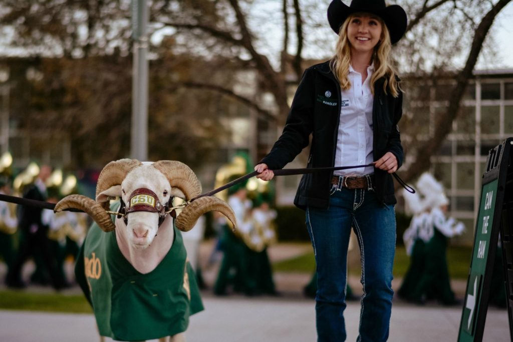 Jillian Shook with Cam the Ram