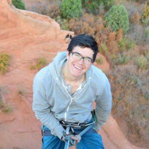 Franklin Alvis climbing