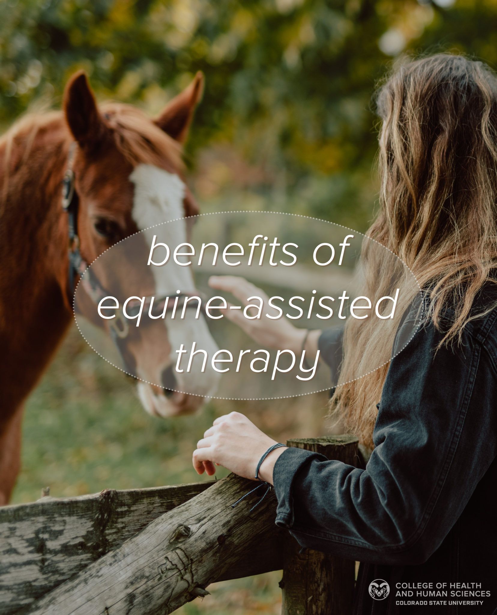 Woman with horse - benefits of equine-assisted therapy.