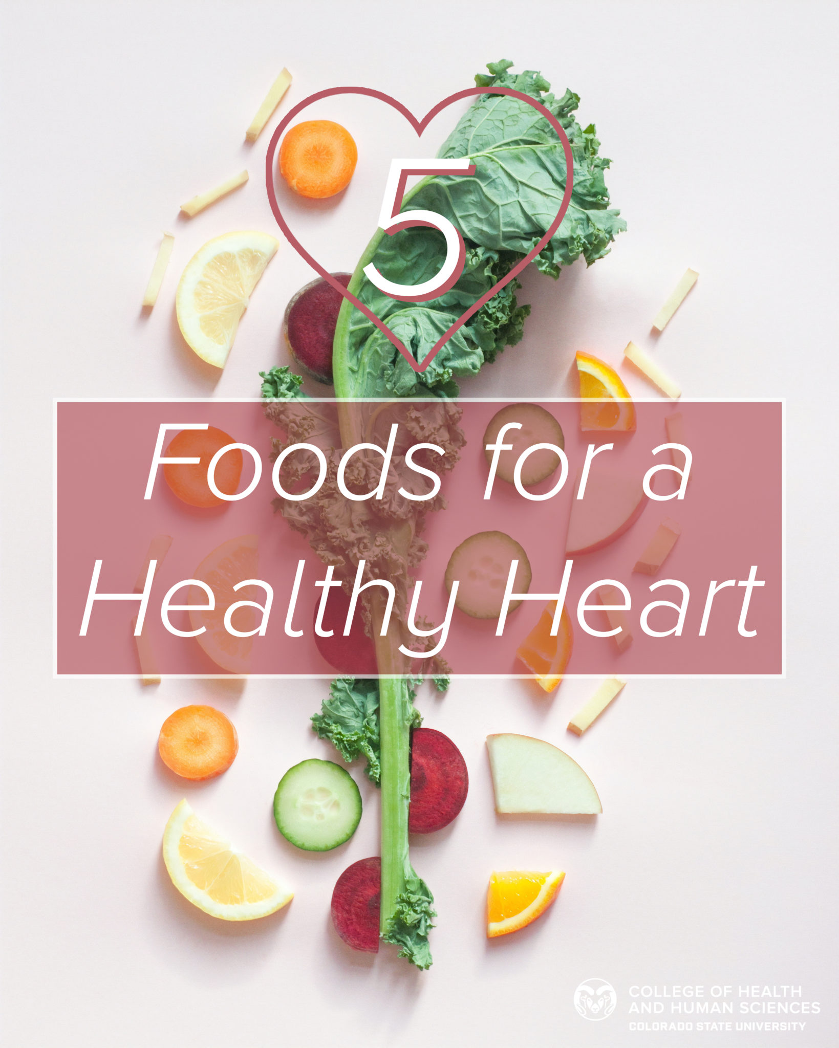 5 foods for a healthy heart.