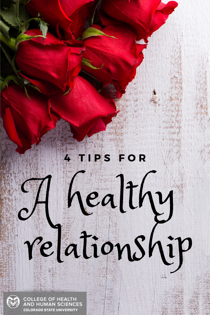 Roses resting on a table. 4 tips for a healthy relationship.