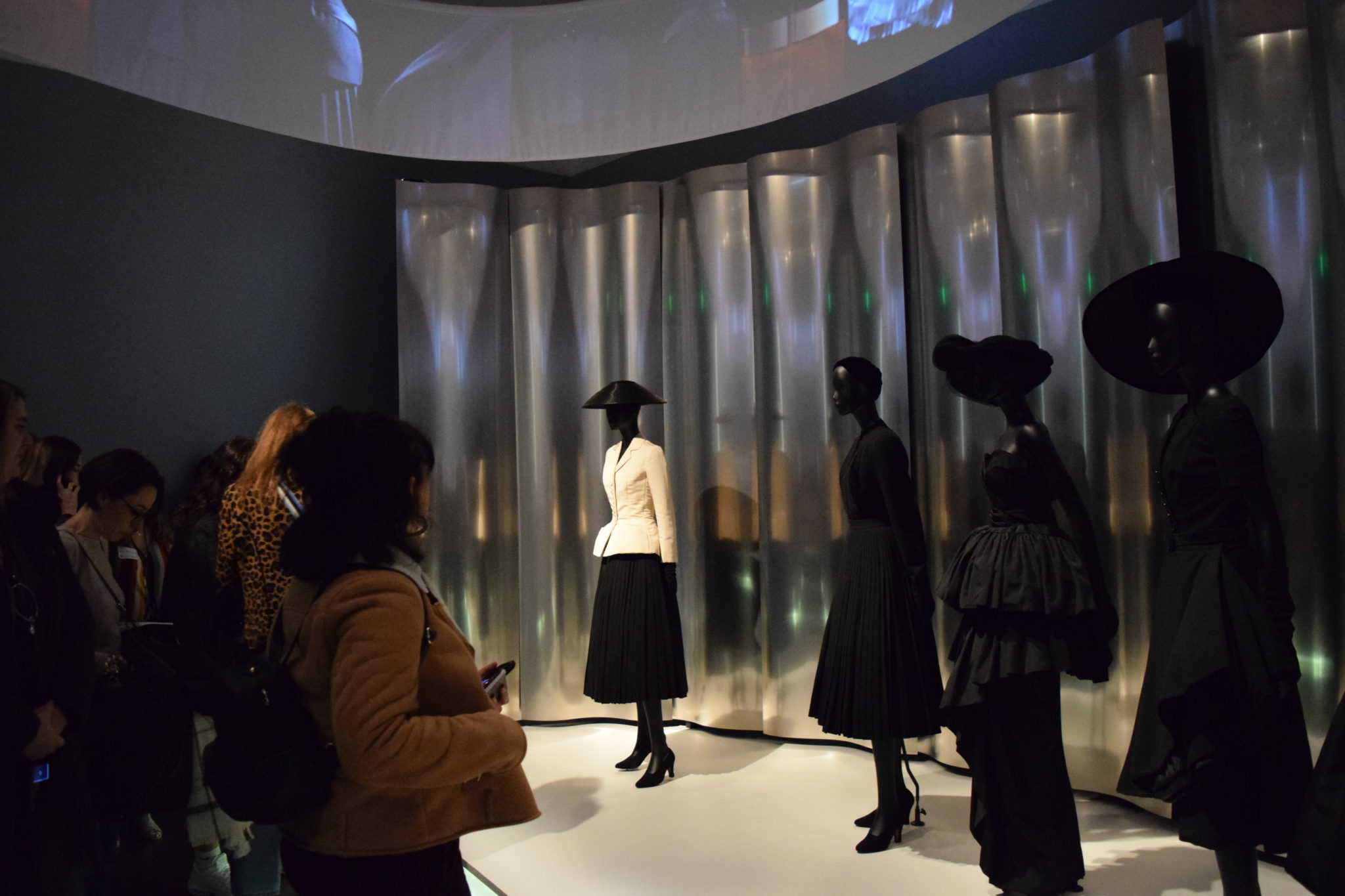 CSU students view the opening portion of the Dior: From Paris to the World exhibit.