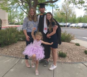 Eric Smith and his family at graduation