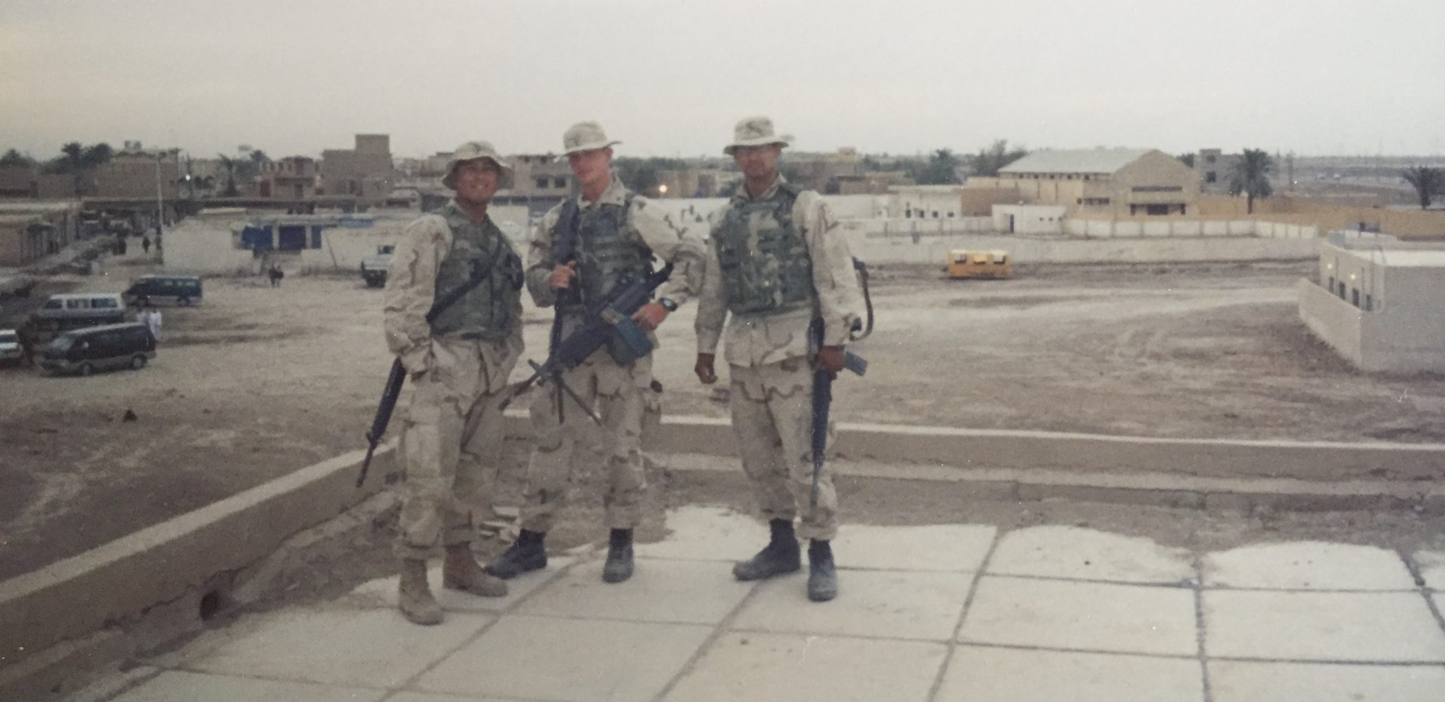 Eric Smith with fellow Marines