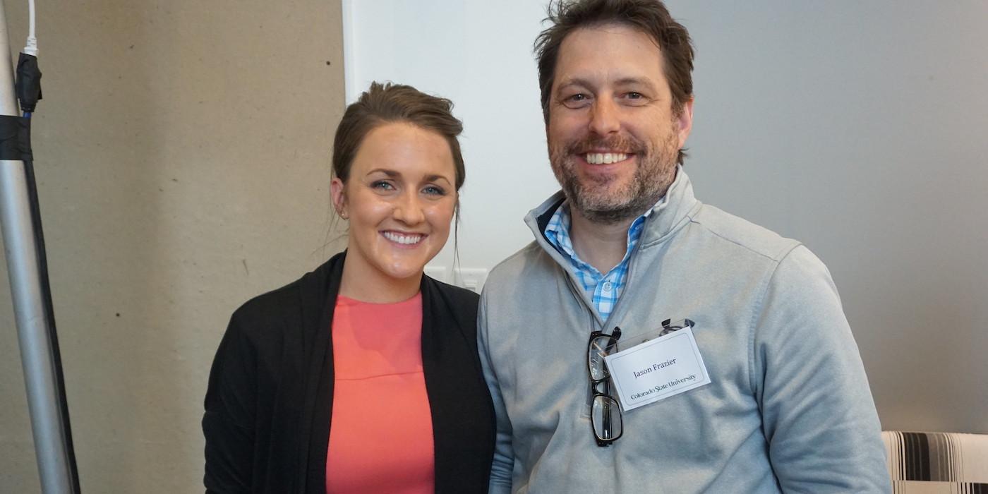 Sarah Badding and Jason Frazier