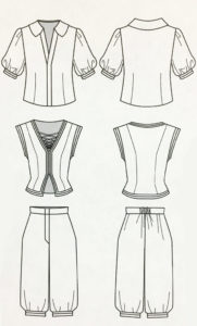 Sketch of costume