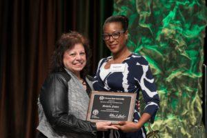 Michelle Foster receives her award